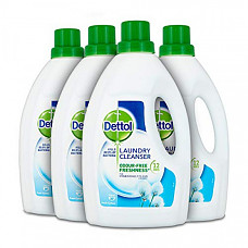 [해외] Dettol 데톨 항균 세탁 액상 세제 첨가제,(4Pack x 1.5 리터) Antibacterial Laundry Cleanser Liquid Additive, Fresh Cotton
