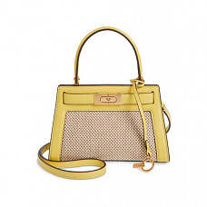 [해외] 토리버치 캔버스 & 가죽 백 Spring 2020 Collection TORY BURCH Small Lee Radziwill  Canvas & Leather Bag