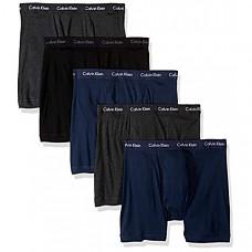 [해외] 캘빈 클라인 남성용 속옷(5pack) Calvin Klein Underwear Men's Cotton Classics 3 Pack Boxer Briefs - Black/Charcoal Heather/Blue Shadow (5 Pack)