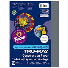 [해외] Pacon 공작종이 Tru-Ray Heavyweight Construction Paper, Slate, 9