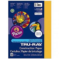[해외] Pacon 공작종이 Tru-Ray Heavyweight Construction Paper, Gold, 9