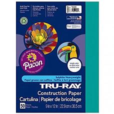 [해외] Pacon 공작종이 Tru-Ray Heavyweight Construction Paper, Turquoise, 9