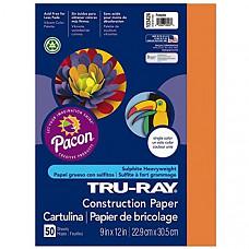[해외] Pacon 공작종이 Tru-Ray Heavyweight Construction Paper, Pumpkin, 9