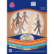 [해외] Pacon 공작종이 SunWorks 9509 Multicultural Construction Paper, 9