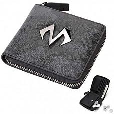 [해외] 바바마 남성 가죽 지갑 BABAMA Men's Zip Wallets Camo Leather Zip Around Bifold Wallet with Coin Pocket Card Holder Fashionable Waterproof Purse for Boy