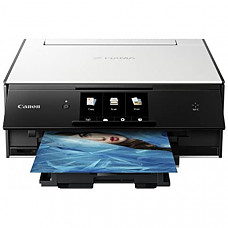 [해외] 캐논 올인원 무선 복합기(프린터,스캐너,복사기) Canon TS9020 Wireless All-In-One Printer with Scanner and Copier: Mobile and Tablet Printing, with AirPrint and Google Cloud Print Compatible, White