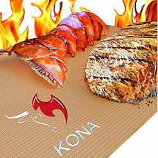 [해외] 코나(Kona) 야외 캠핑용 BBQ 그릴 매트 Copper Grill Mats - Best Non Stick BBQ Grilling Mats for Gas Grills, Electric, Charcoal, Smokers (Set of 2)