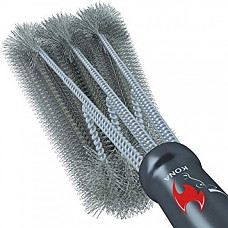 [해외] 코나(Kona) 360회전 야외 캠핑용 BBQ 그릴 청소 브러쉬 Clean Grill Brush, 18 inch Best BBQ Grill Brush - Stainless Steel 3-in-1 Grill Cleaner for Effortless Cleaning