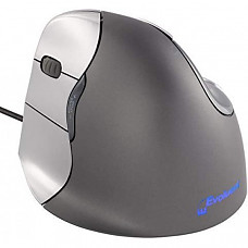 [해외] 이볼루엔트(Evoluent) 버티컬 인체공학적 USB연결 무선 마우스(왼손잡이) Evoluent VM4L VerticalMouse 4 Left Hand Ergonomic Mouse with Wired USB Connection (Regular Size)