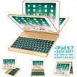 [해외] Earto 아이패드 9.7인치 무선 백라이트 스마트 키보드케이스 iPad Keyboard Case 9.7 for iPad 2018 (6th Gen) - 2017 (5th Gen) - iPad Pro 9.7 - iPad Air 2 & 1, 7 Color Backlit Keyboard Case/360 Rotate Wireless/BT Keyboard Case with Auto Sleep/Wake (Purple)