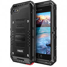 [해외] Beasyjoy 아이폰 6/6s 휴대폰 메탈 케이스 방수 및 화면보호 커버 포함 Metal Case Heavy Duty Waterproof Case Screen Full Body Military Grade Rugged Cover Drop Proof Shockproof Defender