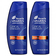[해외] 헤드앤숄더 클리니컬 스트렝스 비듬 및 두피 관리 삼퓨(700mL×2개) Head and Shoulders Shampoo, Anti Dandruff and Scalp Care, Clinical Strength Seborrheic Dermatitis Treatment, 23.7 fl oz, Twin Pack
