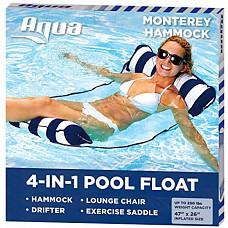 [해외] 다용도 물놀이 워터해먹 튜브 Aqua 4-in-1 Monterey Hammock Inflatable Pool Float, Multi-Purpose Pool Hammock (Saddle, Lounge Chair, Hammock, Drifter) Pool Chair, Portable Water Hammock