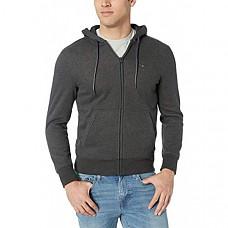 [해외] 타미힐피거 남성 풀집 후드 스웨터 Tommy Hilfiger Mens Full Zip Hoodie Sweatshirt (Charcoal Grey)
