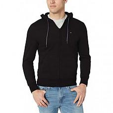 [해외] 타미힐피거 남성 풀집 후드 스웨터 Tommy Hilfiger Mens Full Zip Hoodie Sweatshirt (Deep Knit Black)