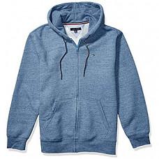[해외] 타미힐피거 남성 풀집 후드 스웨터 Tommy Hilfiger Mens Full Zip Hoodie Sweatshirt (Fleet Blue Heather)