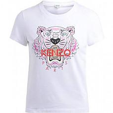 [해외] Kenzo 겐조 여성 타이거 시그니쳐 티셔츠(영국직배송) Tiger Womens T-Shirt(White)
