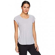 [해외] Reebok 리복 여성 운동용 티셔츠 Womens Legend Running & Gym T-Shirt - Performance Short Sleeve Workout Clothes for Women(Legend Top Silver Sconce Grey Heather)