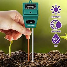[해외] Fosmon 토양 측정기(pH, 습도, 광량/호주직배송) 3-in-1 Measure Soil pH Level, Moisture Content, Light Amount Soil Test Kit for Indoor Outdoor Plants, Flowers, Vegetable Gardens and Lawns
