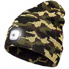 [해외] Wmcaps LED 랜턴 후레쉬 겨울 비니 모자 (USB충전방식/영국직배송) Beanie Hat with Light, USB Rechargeable Head Torch Cap, Super Bright Hands Free Caps, Unisex Winter Warmer Knit Beany Hats with 4 LED Light for Men, Women