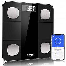 [해외] FXQ 고밀도 체중, 체지방 등 14가지 항목 측정기(건전지 사용/스마트폰 어플지원) Scales for Body Weight, Bluetooth Body Fat Scale, Digital Bathroom Weight Scale, Smart BMI Scale Body Fat Analyzer Tracks 14 Key Compositions, High Precise Weight Measure Scale with Smartphone App